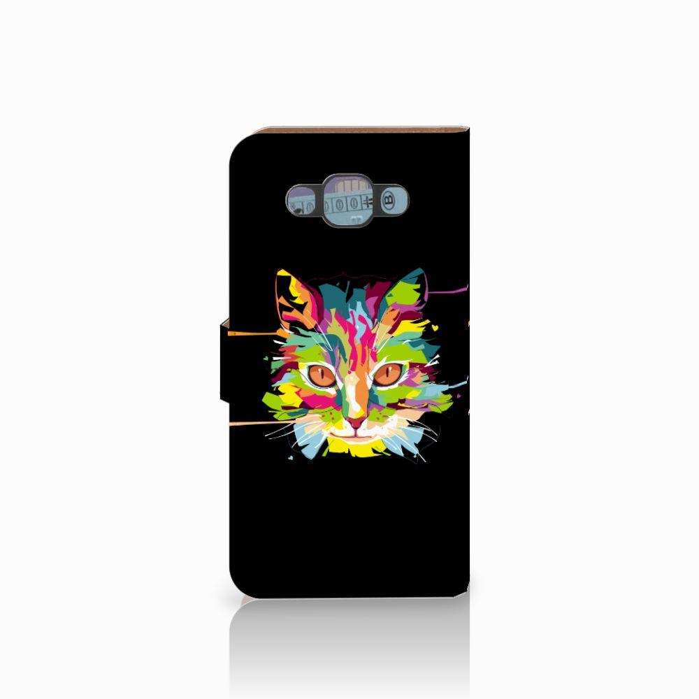Samsung Galaxy E7 Leuke Hoesje Cat Color