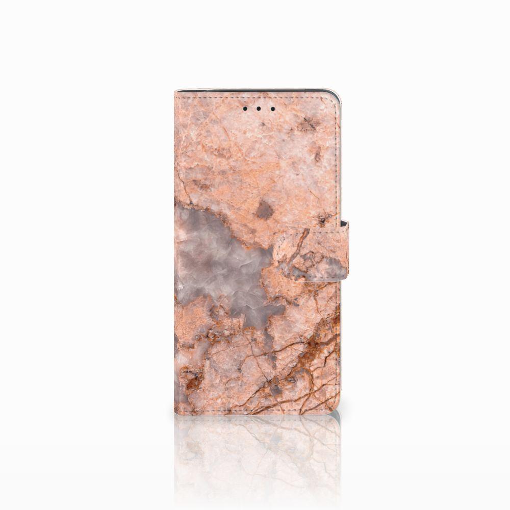 Samsung Galaxy J6 Plus (2018) Boekhoesje Design Marmer Oranje