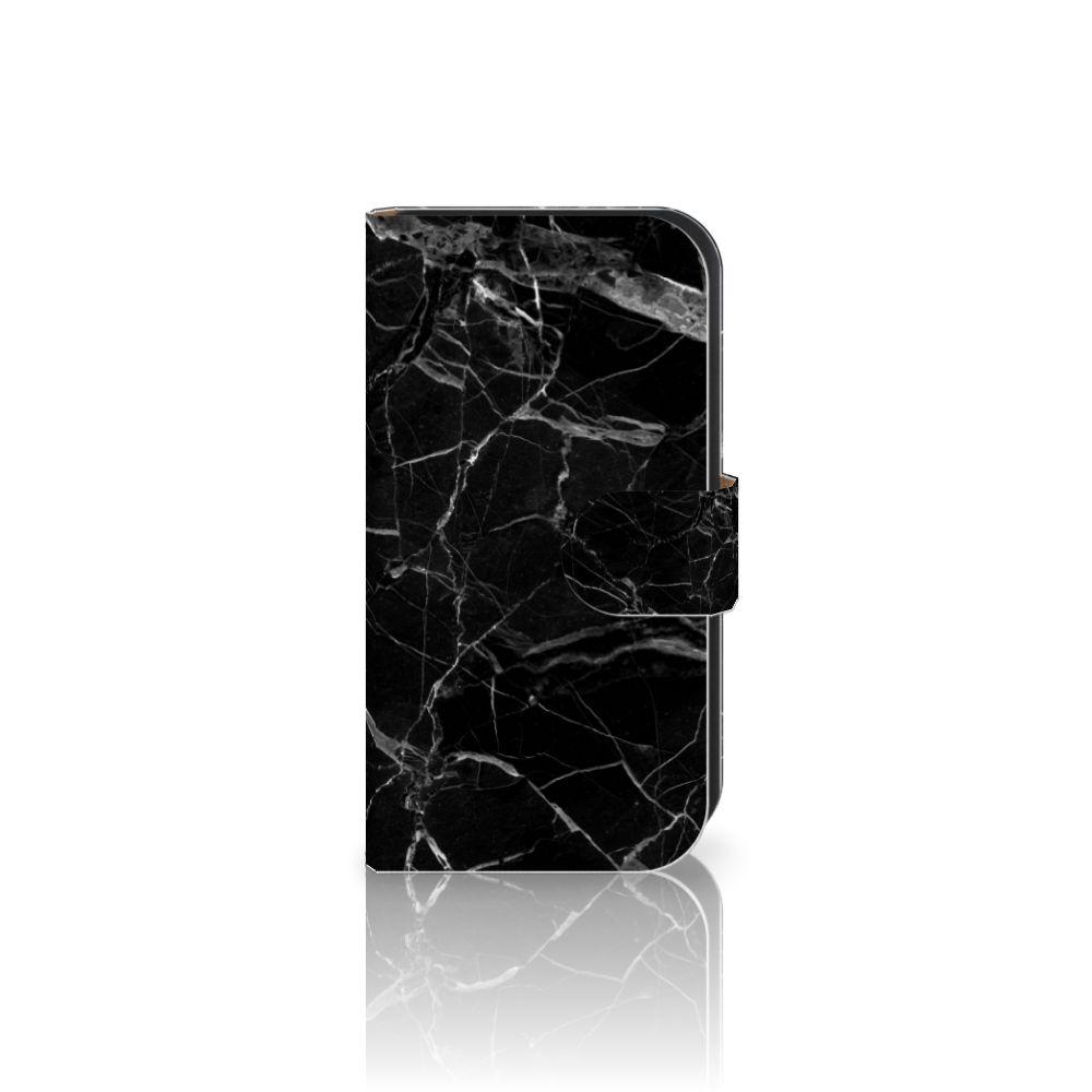 Samsung Galaxy Ace 4 4G (G357-FZ) Uniek Boekhoesje Marmer Zwart