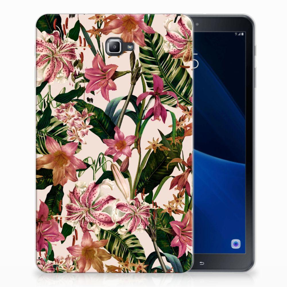 Samsung Galaxy Tab A 10.1 Uniek Tablethoesje Flowers