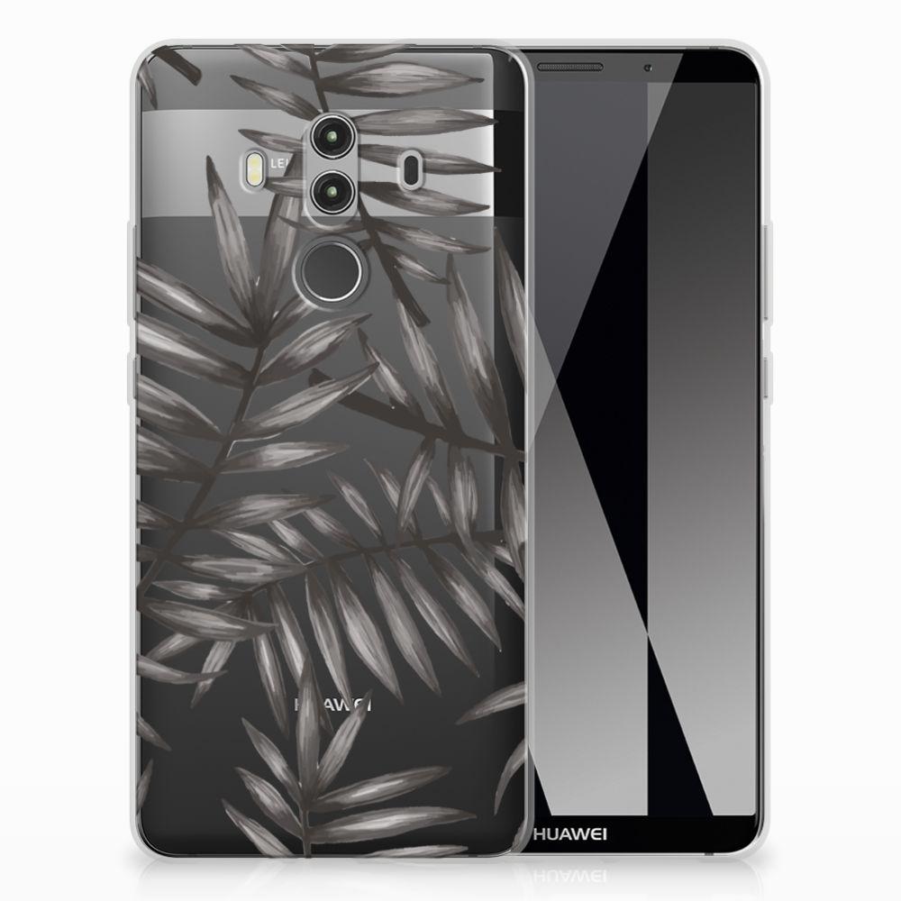 Huawei Mate 10 Pro Uniek TPU Hoesje Leaves Grey