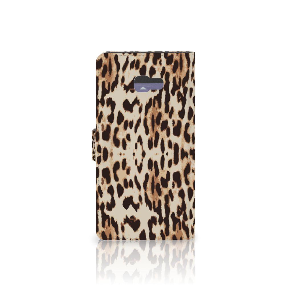 Samsung Galaxy A7 2017 Telefoonhoesje met Pasjes Leopard