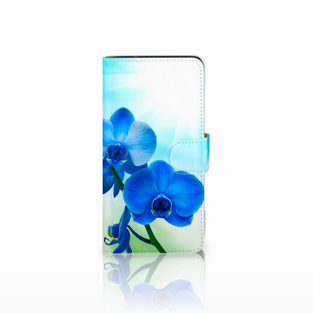 Samsung Galaxy J2 2016 Boekhoesje Design Orchidee Blauw