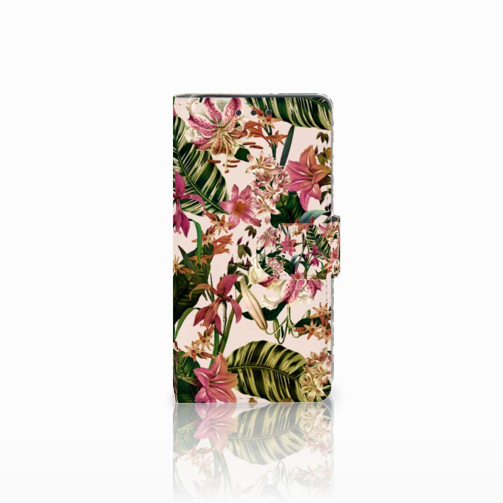 Sony Xperia X Uniek Boekhoesje Flowers