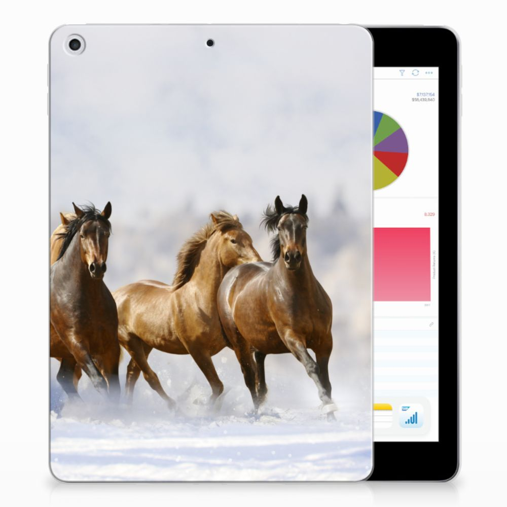 Apple iPad 9.7 2018 | 2017 Back Case Paarden