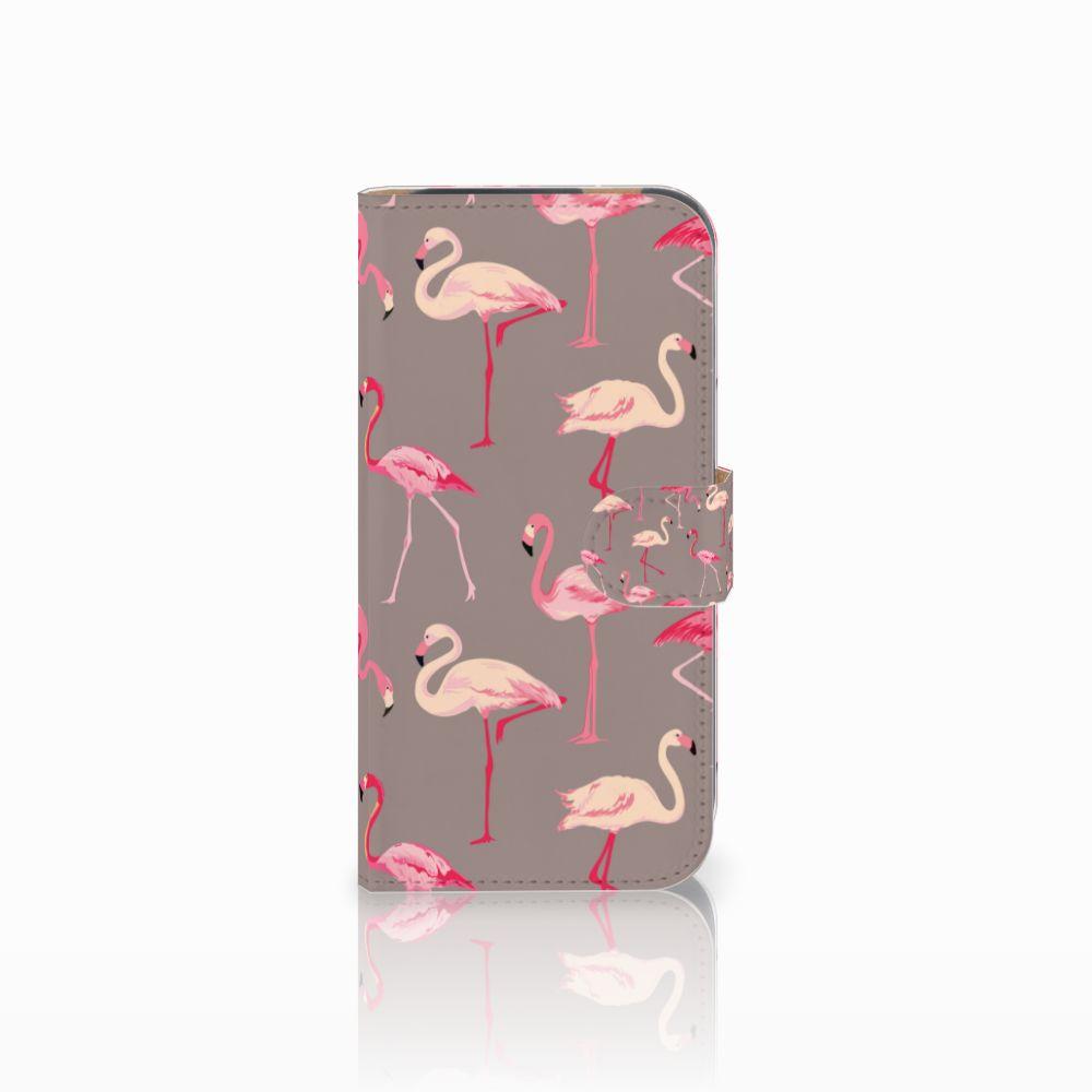 HTC One M8 Uniek Boekhoesje Flamingo