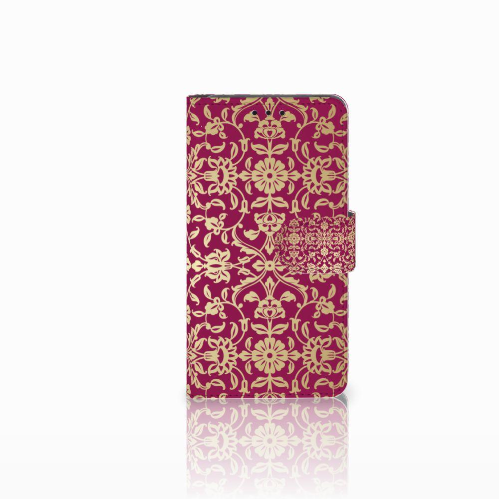 Wallet Case Huawei Y6 Pro 2017 Barok Pink