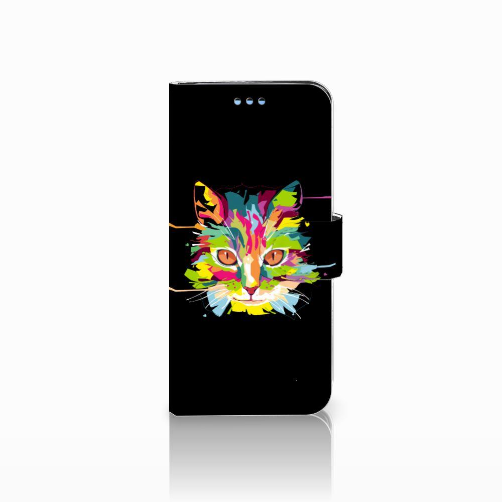 Samsung Galaxy S9 Uniek Boekhoesje Cat Color