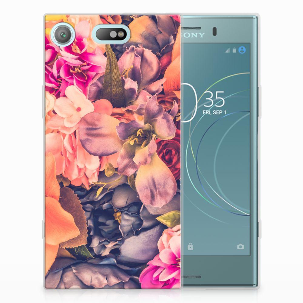 Sony Xperia XZ1 Compact TPU Hoesje Design Bosje Bloemen