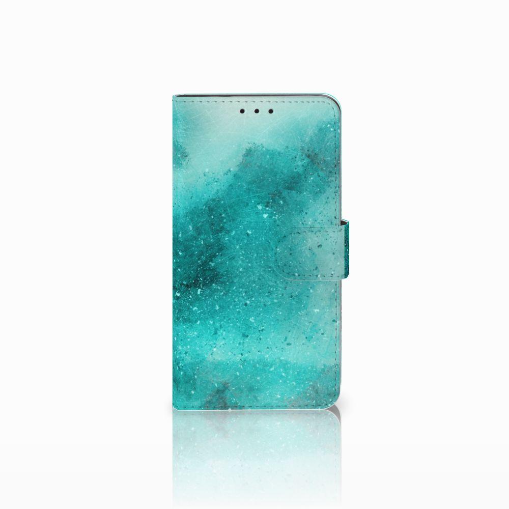 Huawei Honor 6X Uniek Boekhoesje Painting Blue
