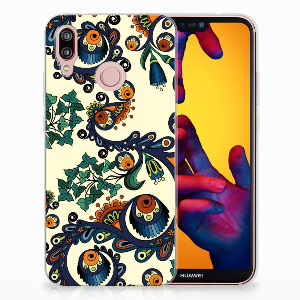Huawei P20 Lite TPU Hoesje Design Barok Flower
