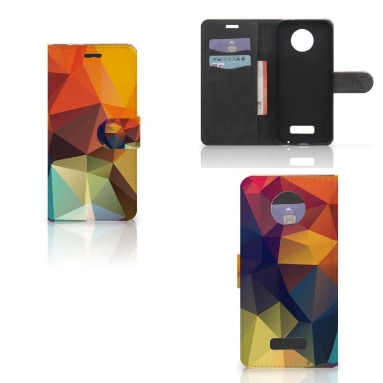 Motorola Moto Z Bookcase Polygon Color