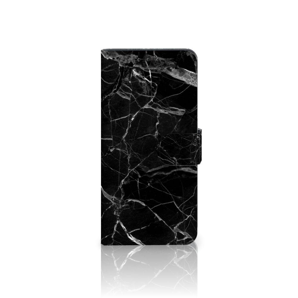 Nokia 6 Uniek Boekhoesje Marmer Zwart