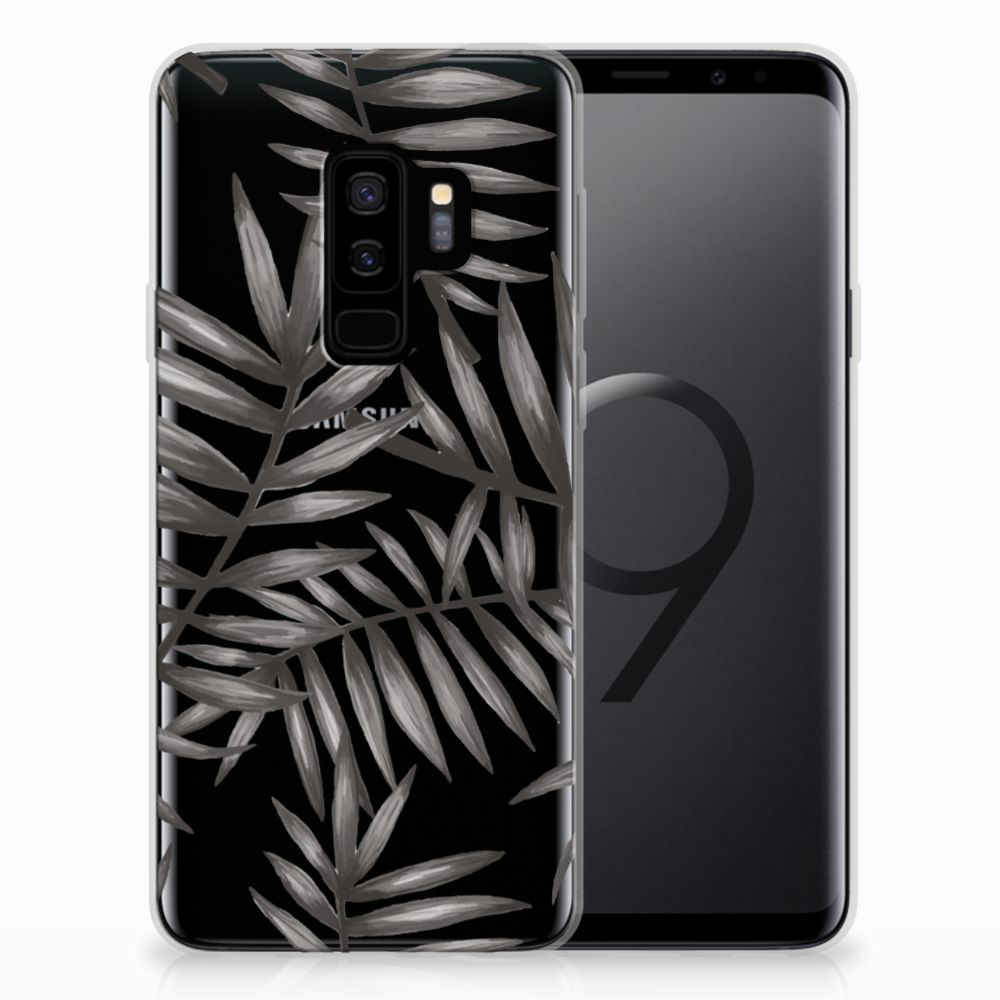 Samsung Galaxy S9 Plus TPU Case Leaves Grey
