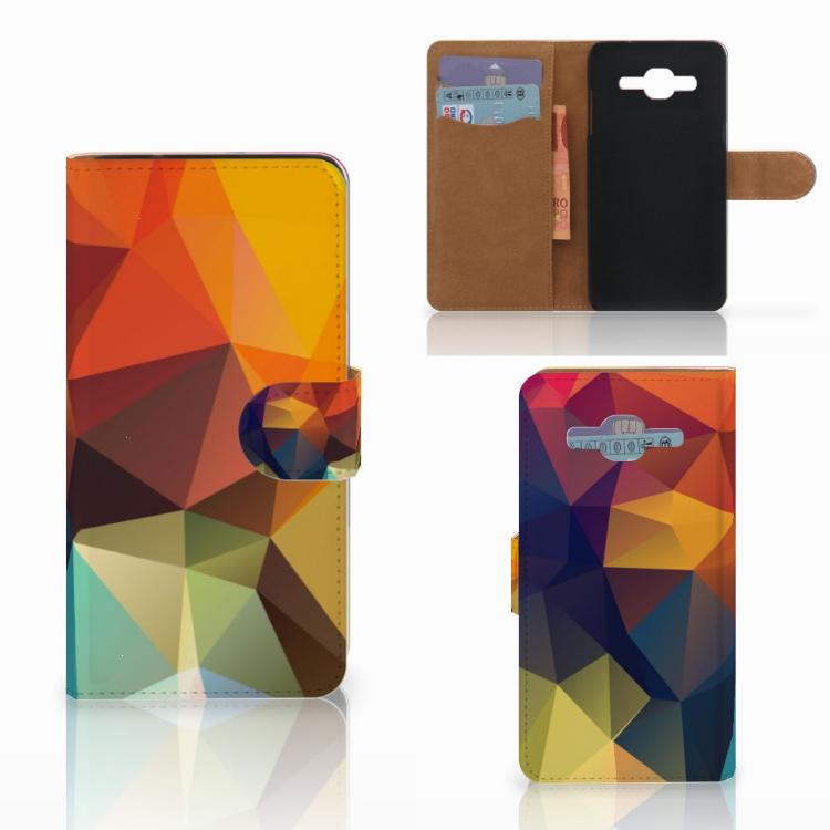 Samsung Galaxy J2 2016 Bookcase Polygon Color