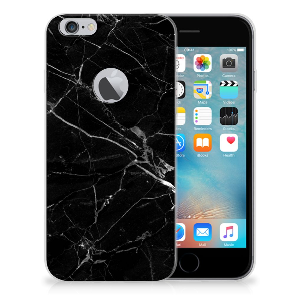 Apple iPhone 6 Plus | 6s Plus Uniek TPU Hoesje Marmer Zwart