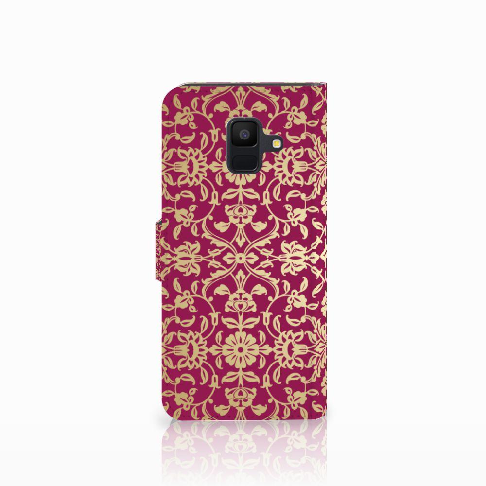 Wallet Case Samsung Galaxy A6 2018 Barok Pink