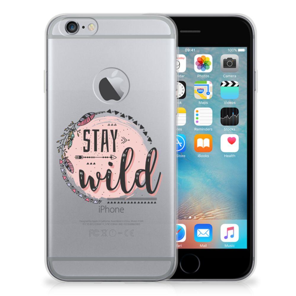 Apple iPhone 6 Plus | 6s Plus Telefoonhoesje met Naam Boho Stay Wild