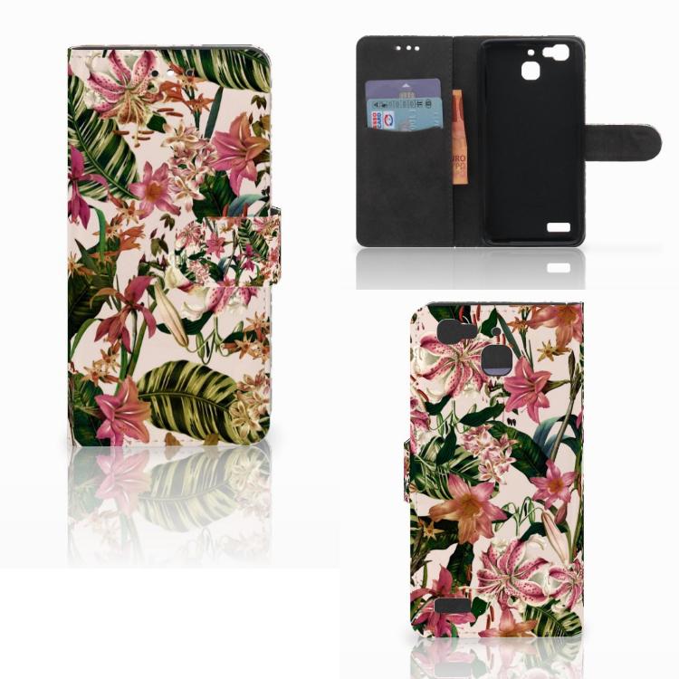 Huawei P8 Lite Smart (GR3) Hoesje Flowers