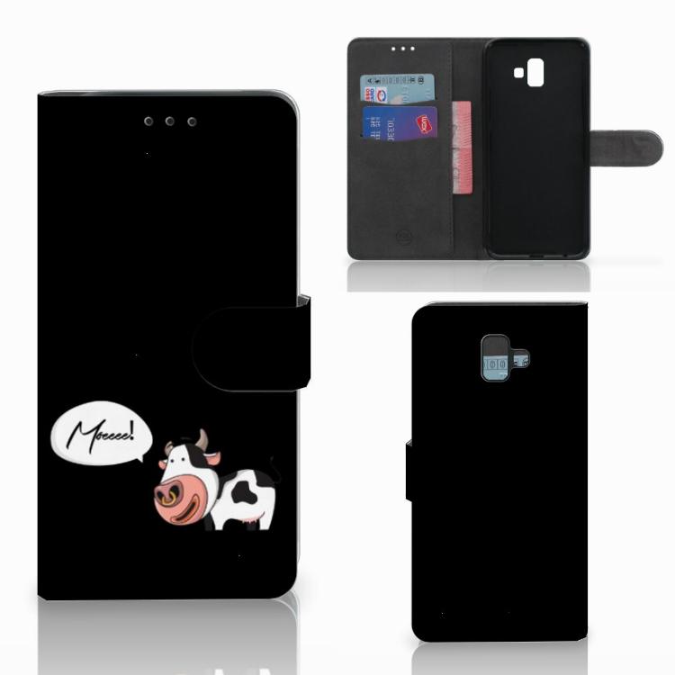 Samsung Galaxy J6 Plus (2018) Leuk Hoesje Cow