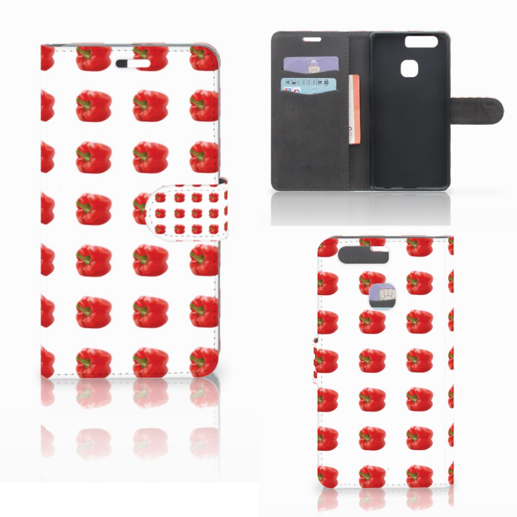 Huawei P9 Plus Book Cover Paprika Red