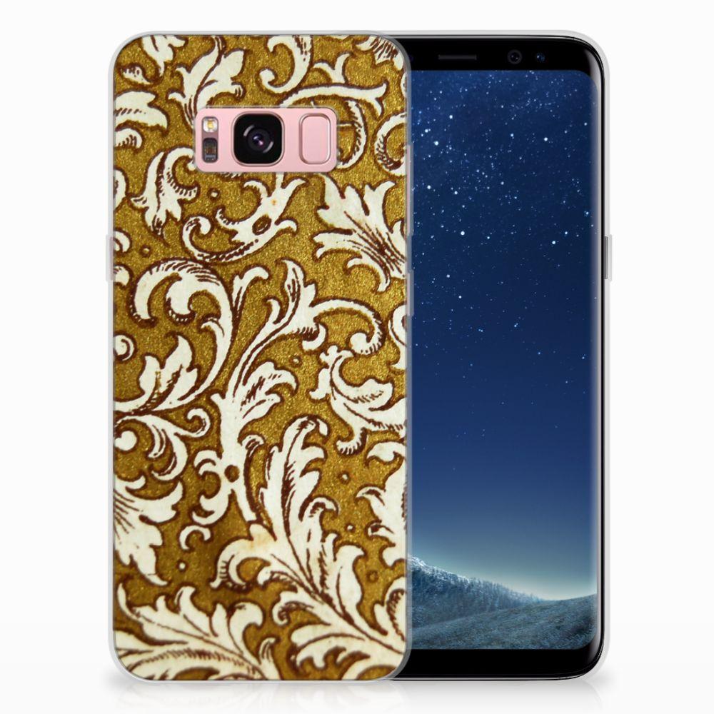 Siliconen Hoesje Samsung Galaxy S8 Barok Goud