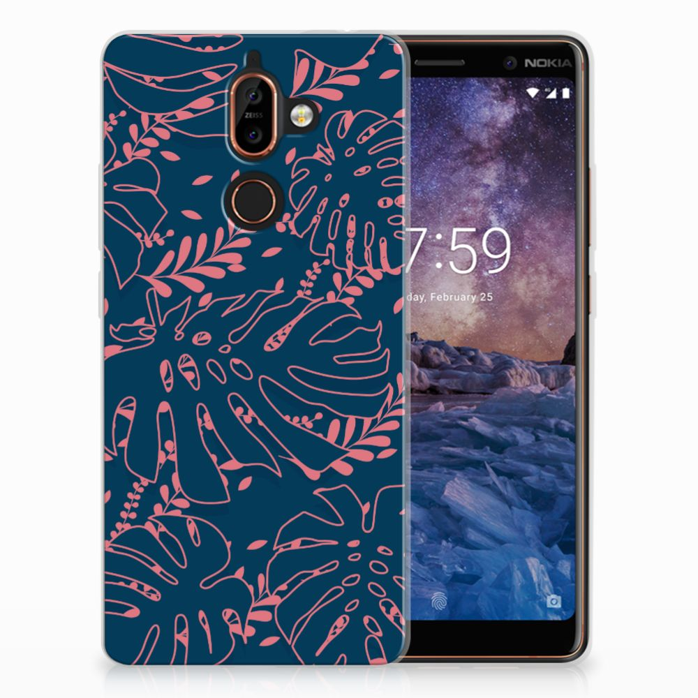Nokia 7 Plus TPU Hoesje Design Palm Leaves