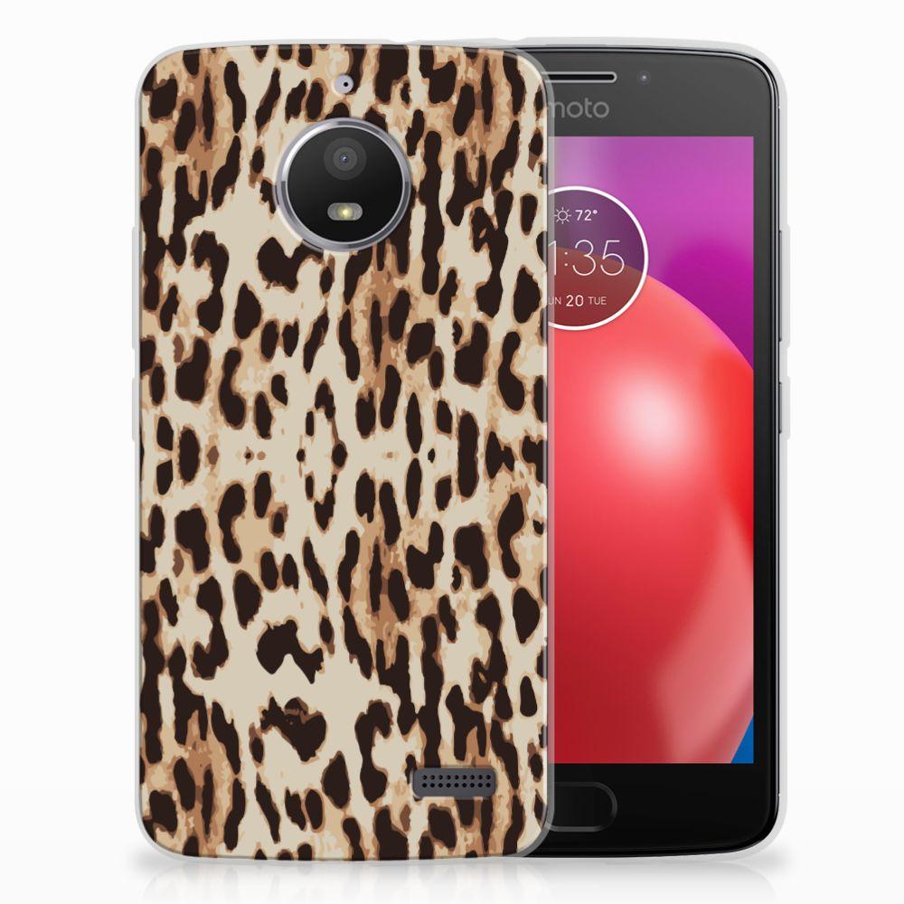 Motorola Moto E4 Uniek TPU Hoesje Leopard