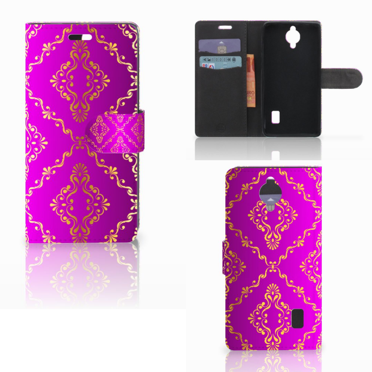 Wallet Case Huawei Y635 Barok Roze