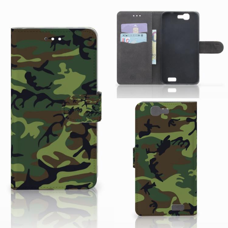 Huawei Ascend G7 Telefoon Hoesje Army Dark
