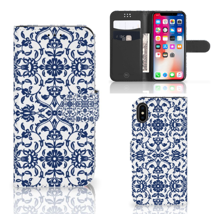 Apple iPhone X | Xs Hoesje Flower Blue