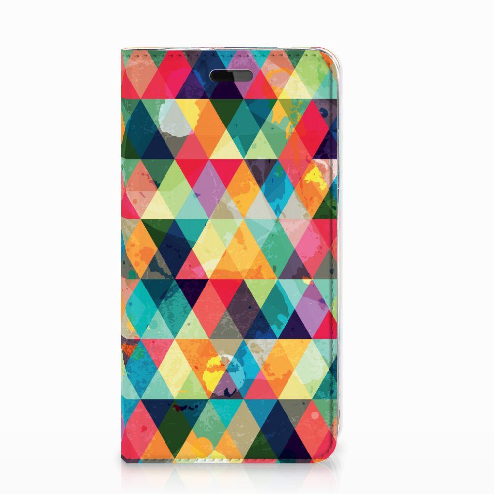 Huawei Y5   Y6 2017 Hoesje met Magneet Geruit