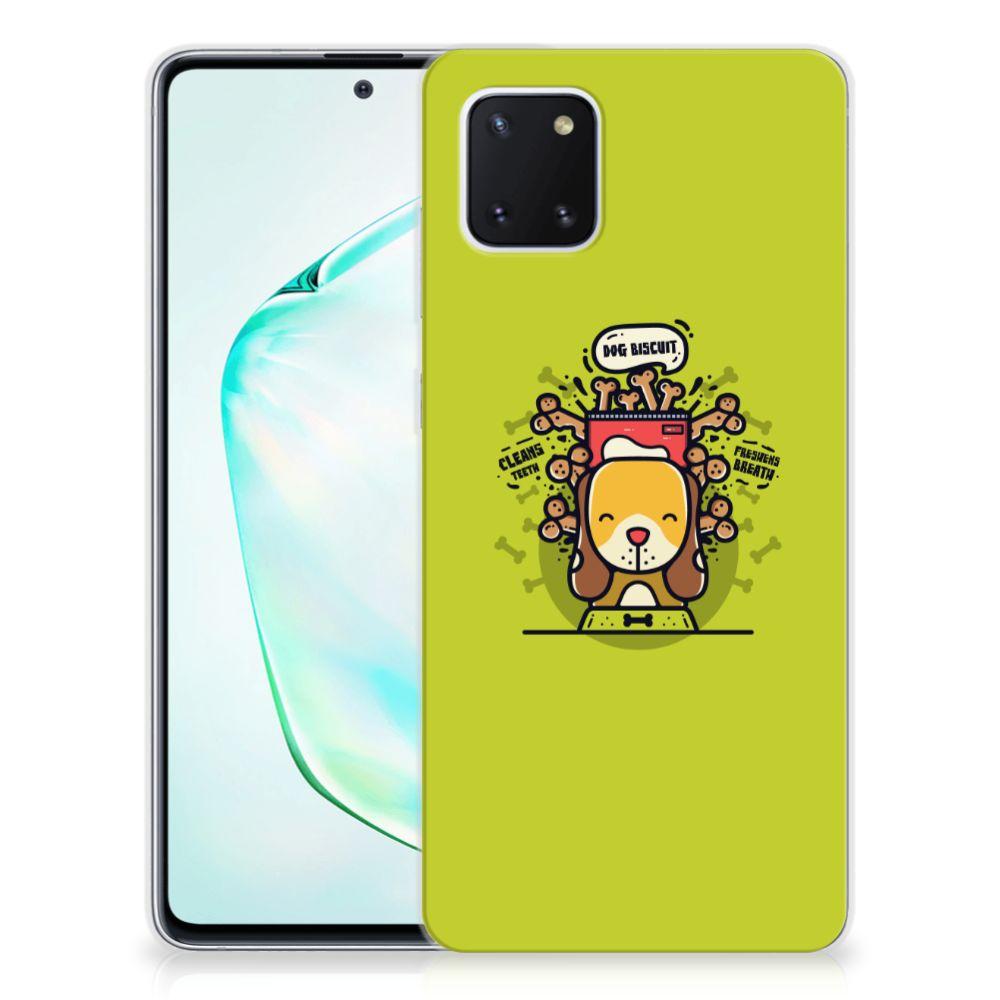 Samsung Galaxy Note 10 Lite Telefoonhoesje met Naam Doggy Biscuit