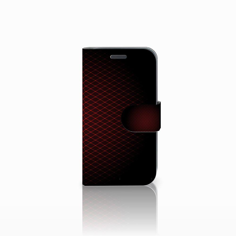 Samsung Galaxy J1 2016 Uniek Boekhoesje Geruit Rood