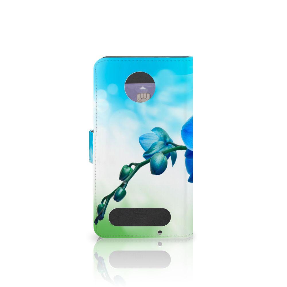 Motorola Moto Z2 Force Hoesje Orchidee Blauw