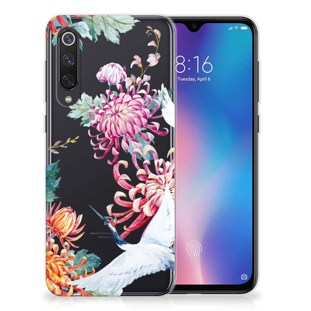 Xiaomi Mi 9 SE TPU Hoesje Bird Flowers