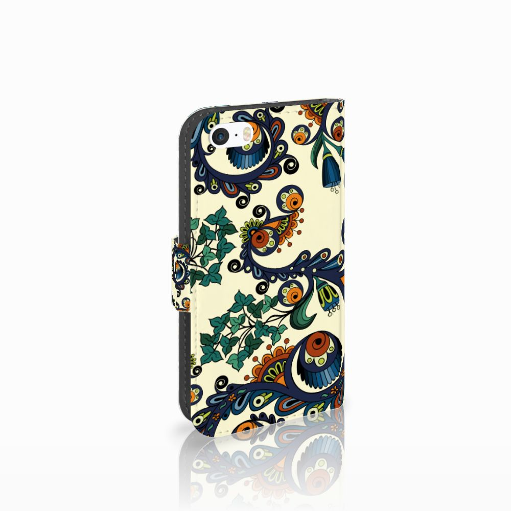 Apple iPhone 5 | 5s | SE Boekhoesje Design Barok Flower