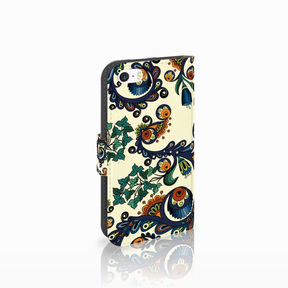 Wallet Case Apple iPhone 5 | 5s | SE Barok Flower