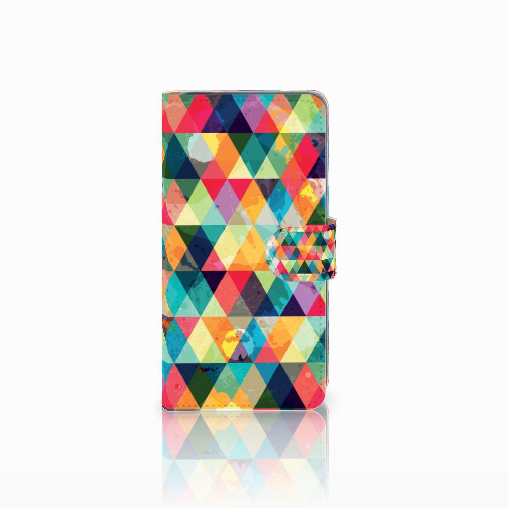 Huawei P8 Lite 2017 Uniek Boekhoesje Geruit