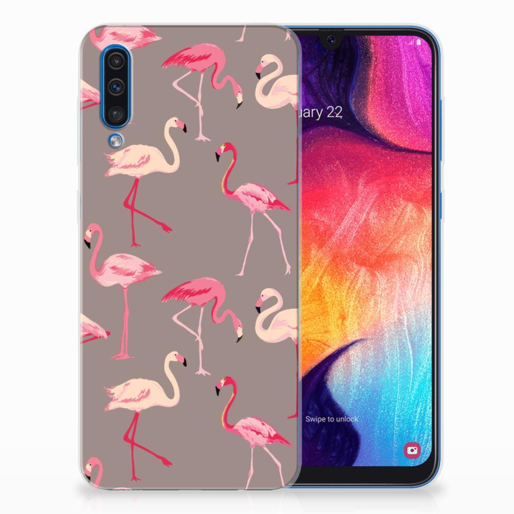 Samsung Galaxy A50 TPU Hoesje Flamingo