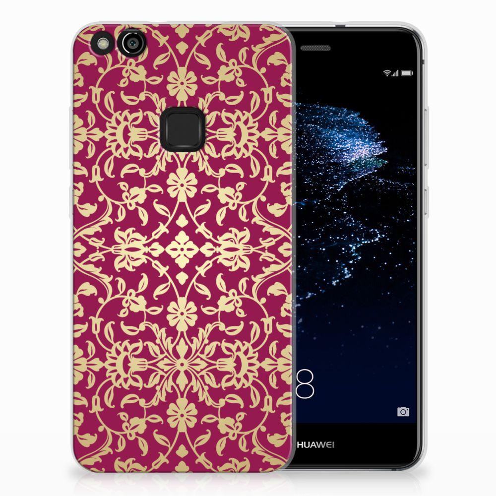 Huawei P10 Lite TPU Hoesje Design Barok Pink