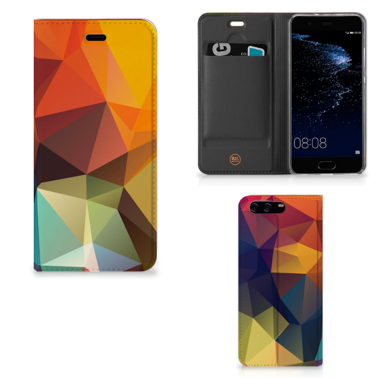 Huawei P10 Stand Case Polygon Color