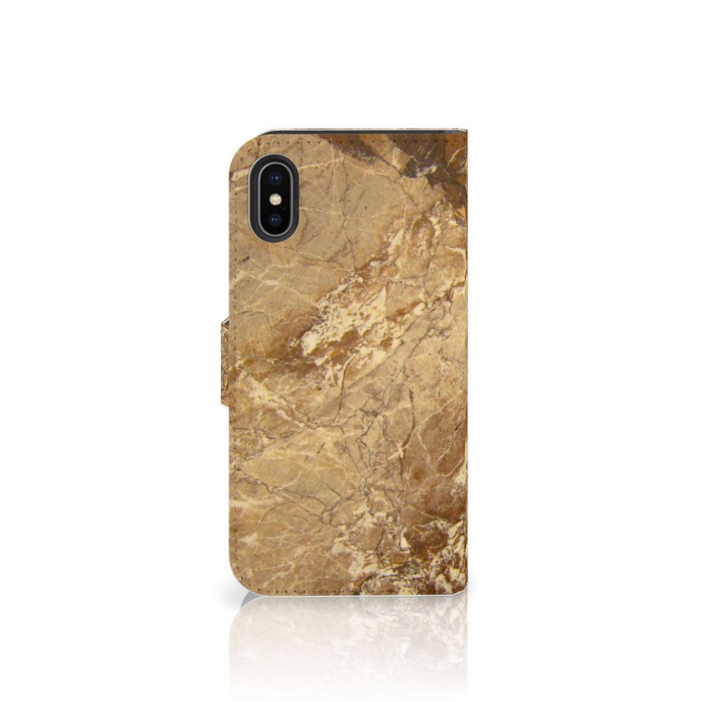 Apple iPhone X | Xs Bookcase Marmer Creme