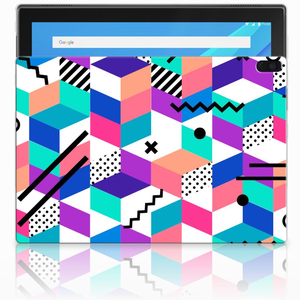 Lenovo Tab 4 10.1 Back Cover Blokken Kleurrijk