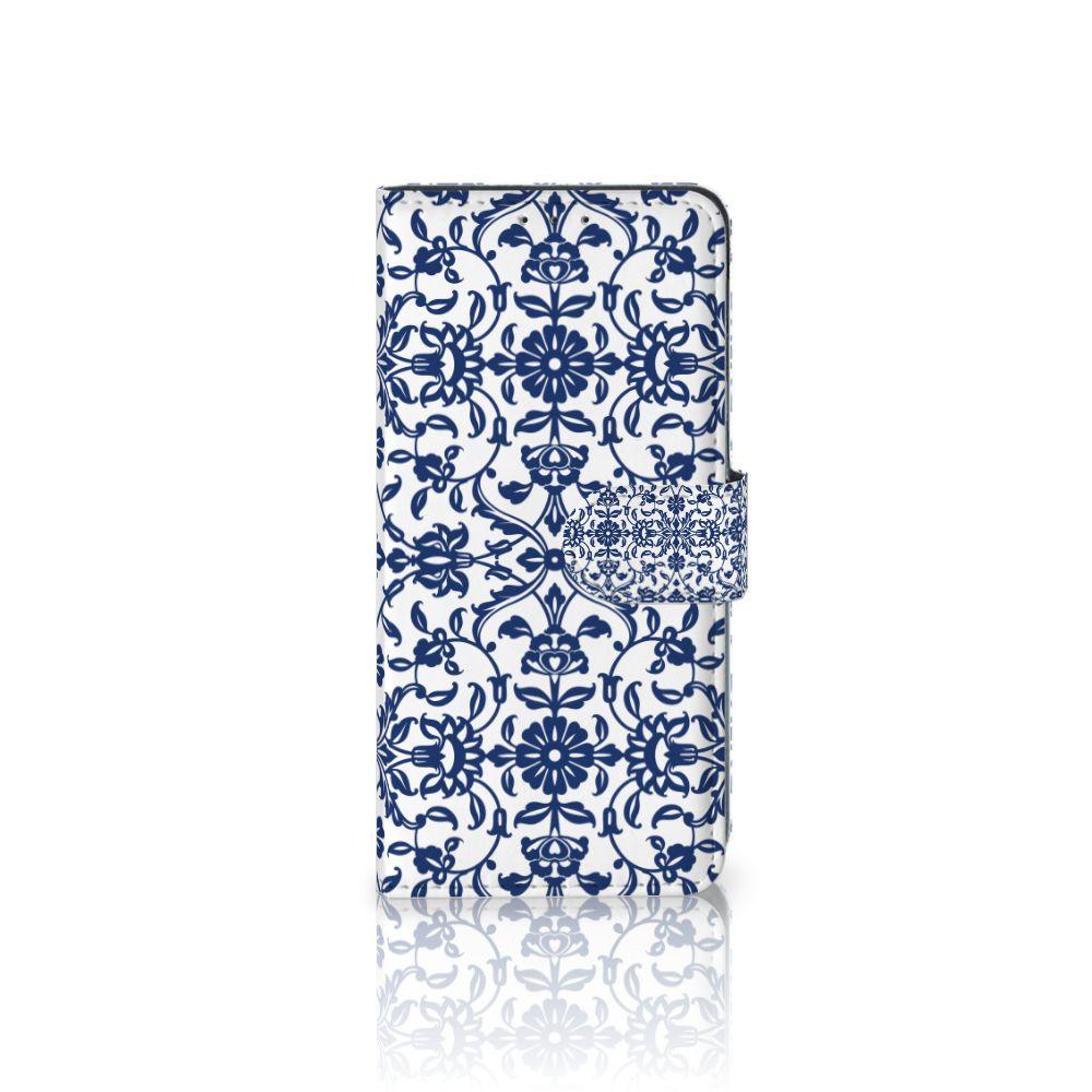 LG V40 Thinq Boekhoesje Flower Blue