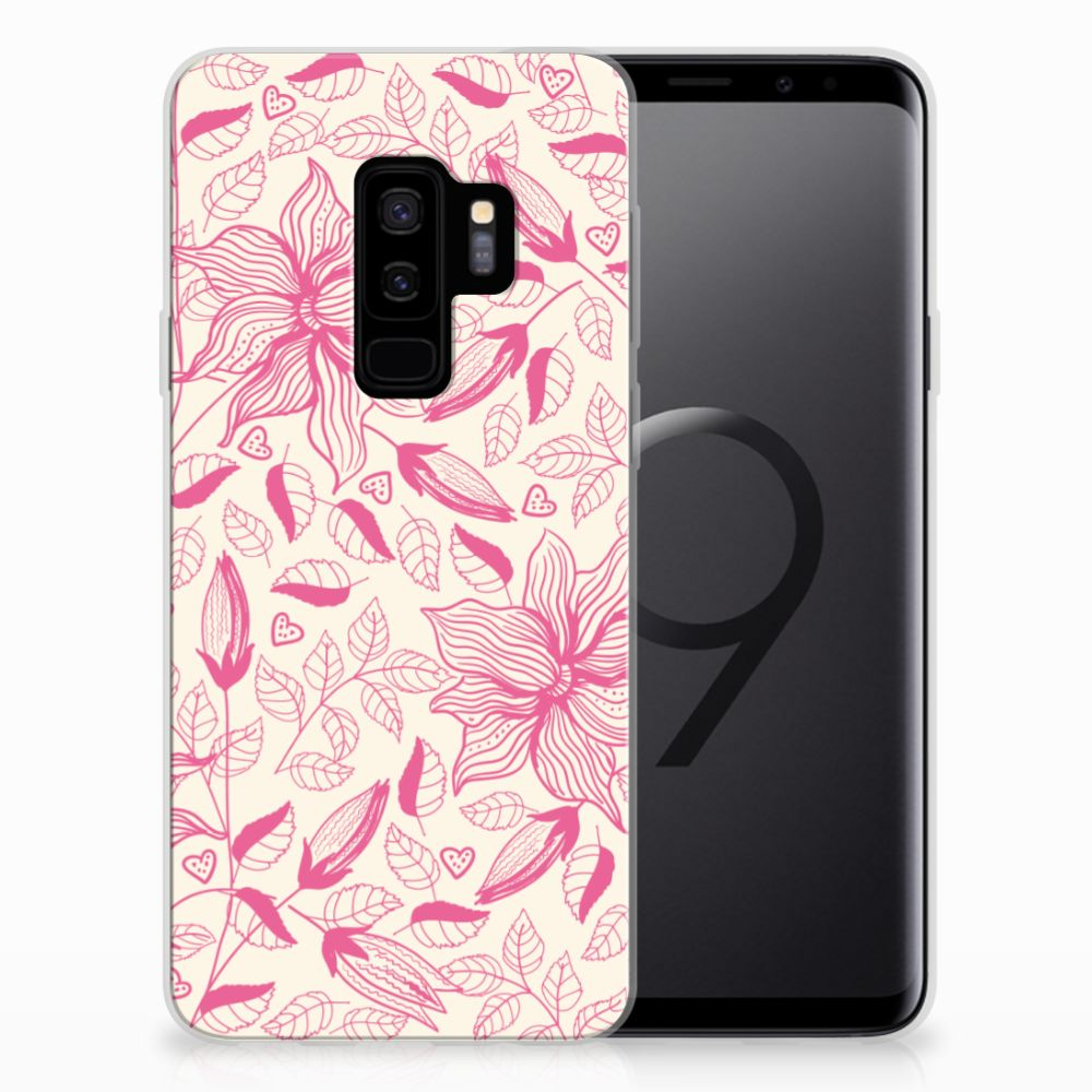 Samsung Galaxy S9 Plus TPU Case Pink Flowers