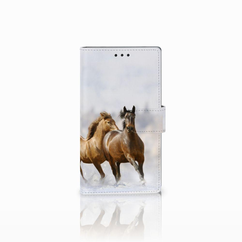Sony Xperia L2 Uniek Boekhoesje Paarden