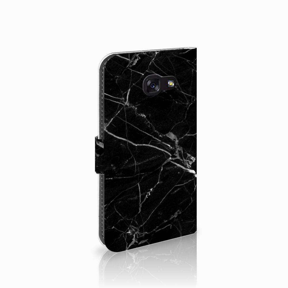Samsung Galaxy A5 2017 Uniek Boekhoesje Marmer Zwart