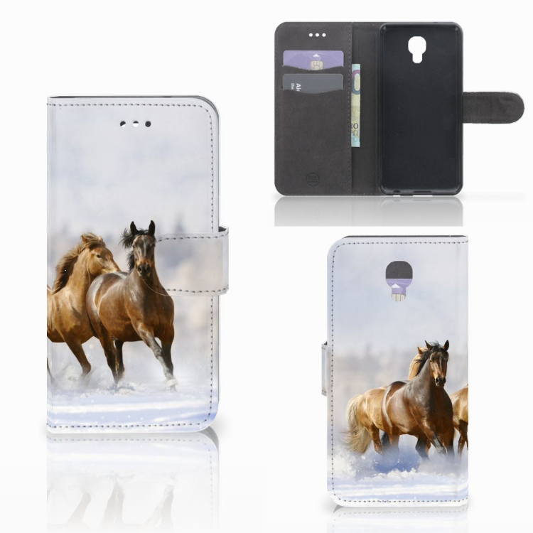 LG X Screen Telefoonhoesje met Pasjes Paarden