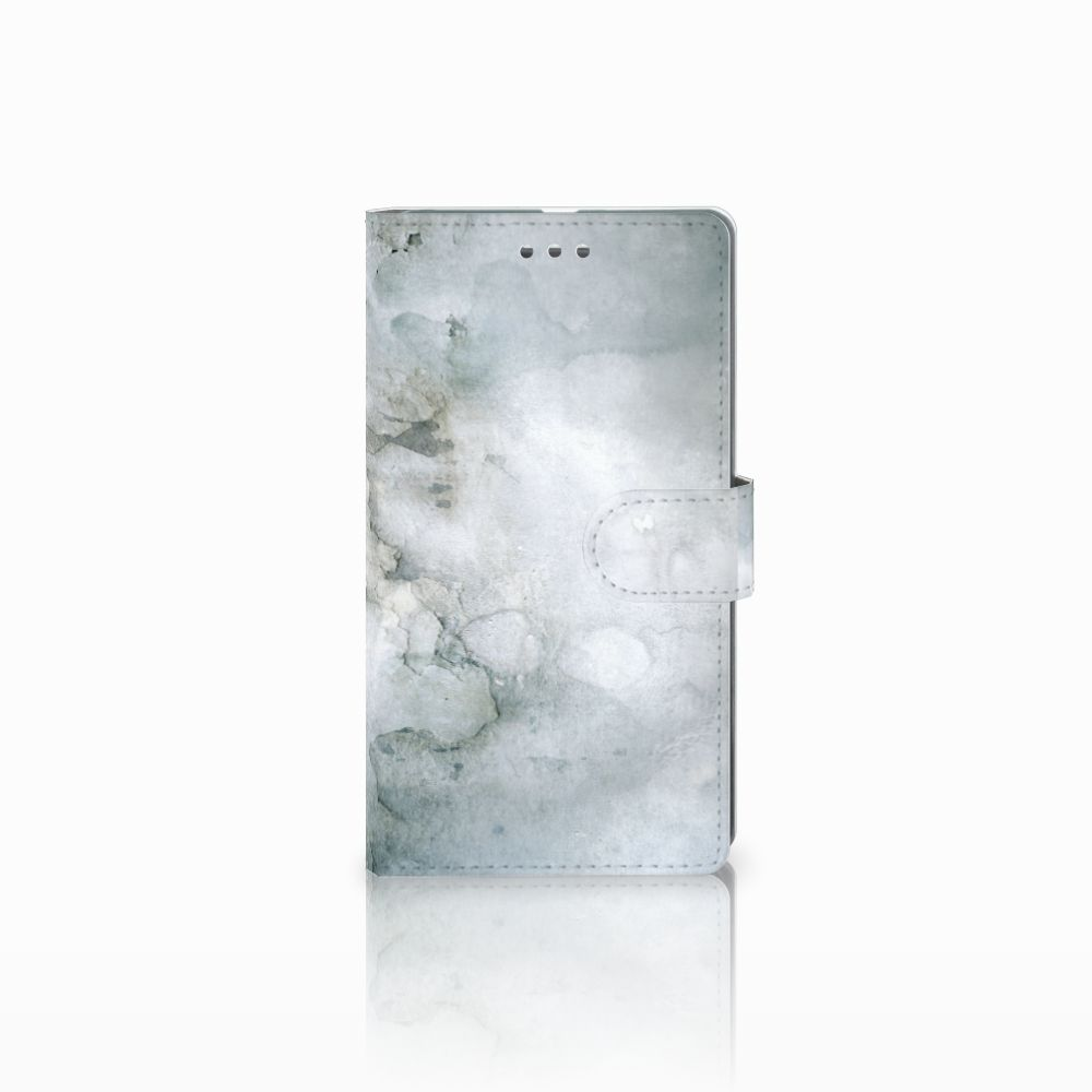 Microsoft Lumia 950 XL Uniek Boekhoesje Painting Grey